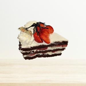 Chocolade Biscuit Slagroom Aardbeien 1pers