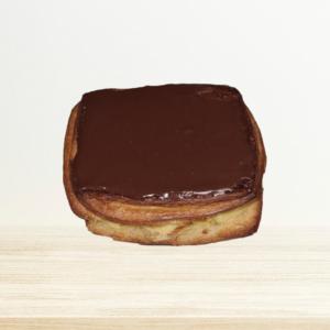 Crèmekoek Vierkant Met Chocolade